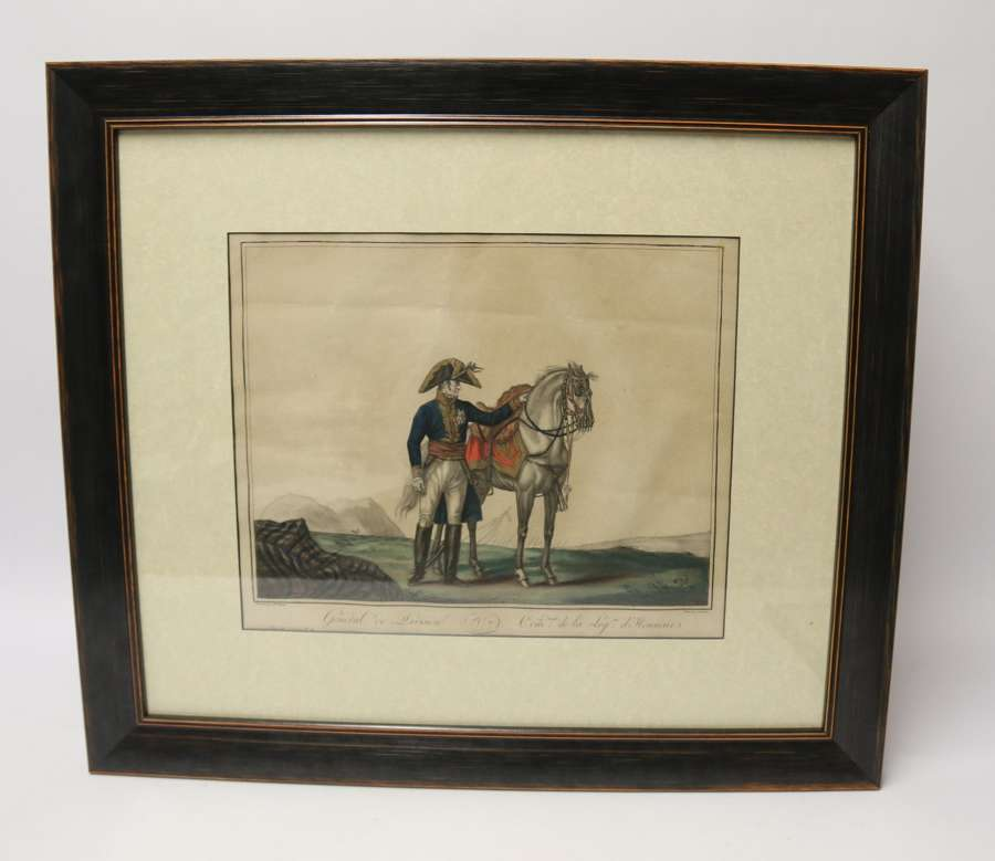 An Early 19th Century Napoleonic Period French Military Hand Coloured Print.