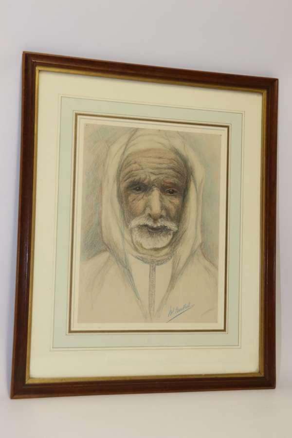 A Fine Late 19th Century  Portrait Of An Arab Gentleman.