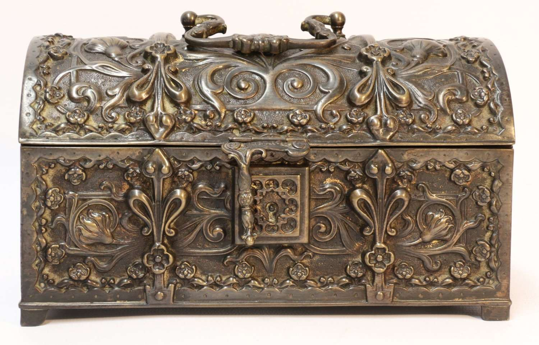A  Fine French 19th-century Bronze Jewel Casket