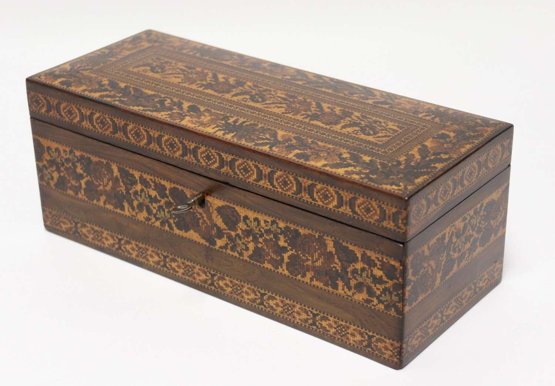 A Most Impressive Fine 19th Tunbridge Ware Box, English C1860