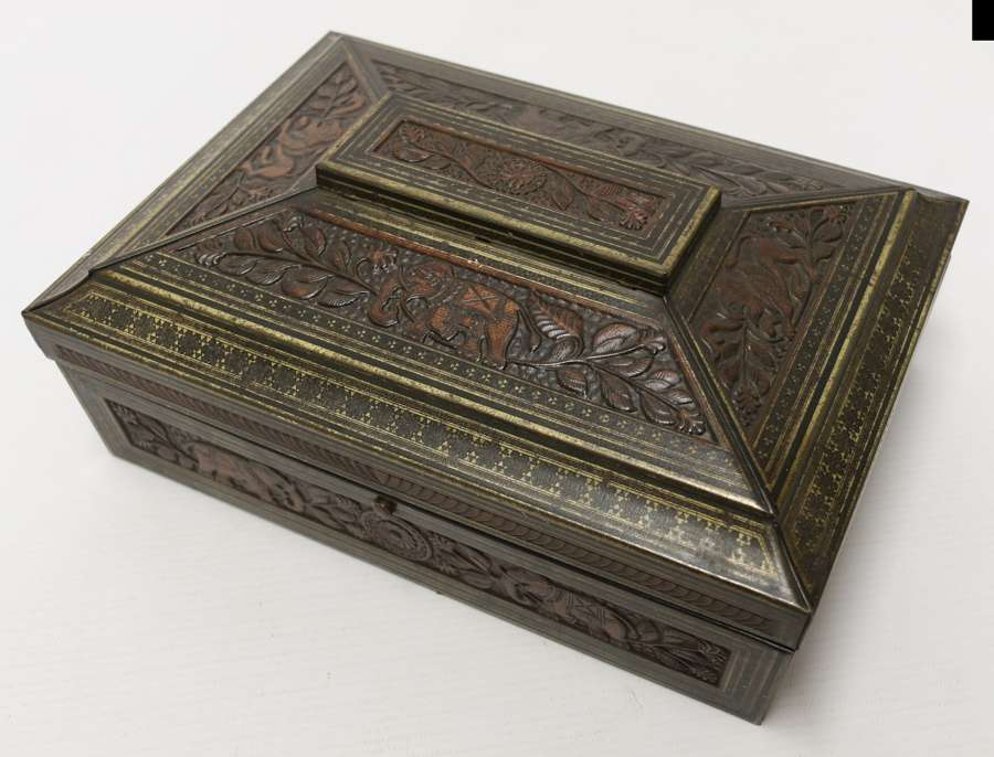 A Rare English 19th Century  Huntley And Palmers Biscuit Tin.