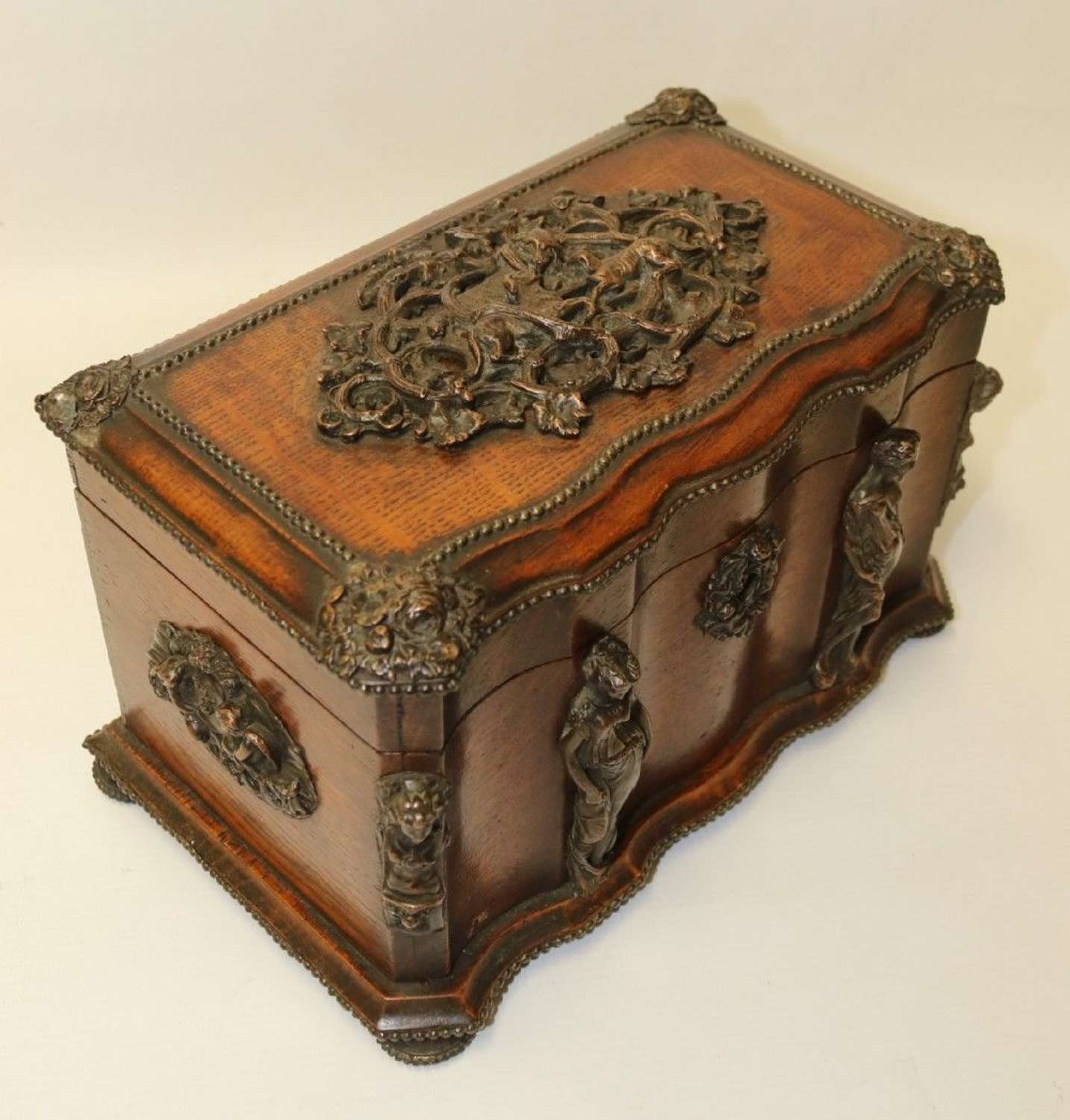 A Decorative Bronze Mounted Tea Caddy , By Tahan Of Paris