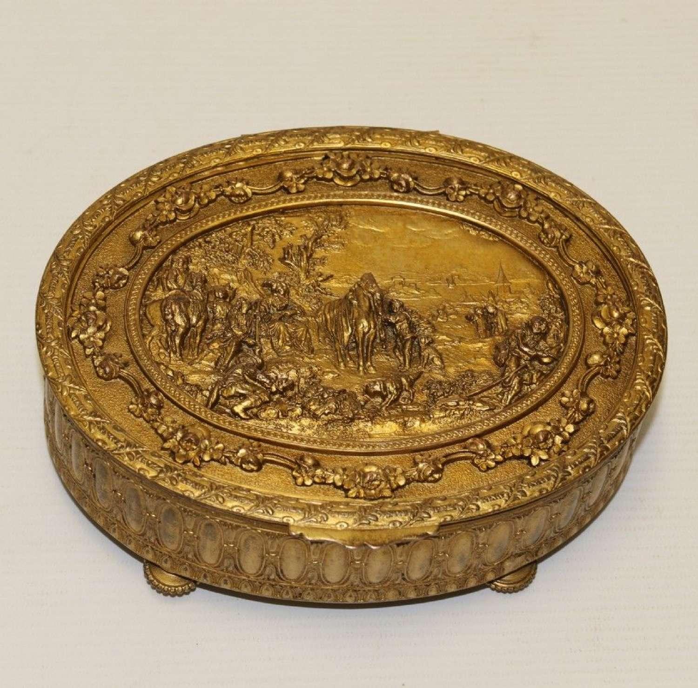 A Fine French Gilt Brass Jewellerybbox