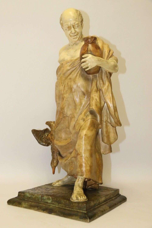 A Large Goldscheider Pottery Classical Roman Figure