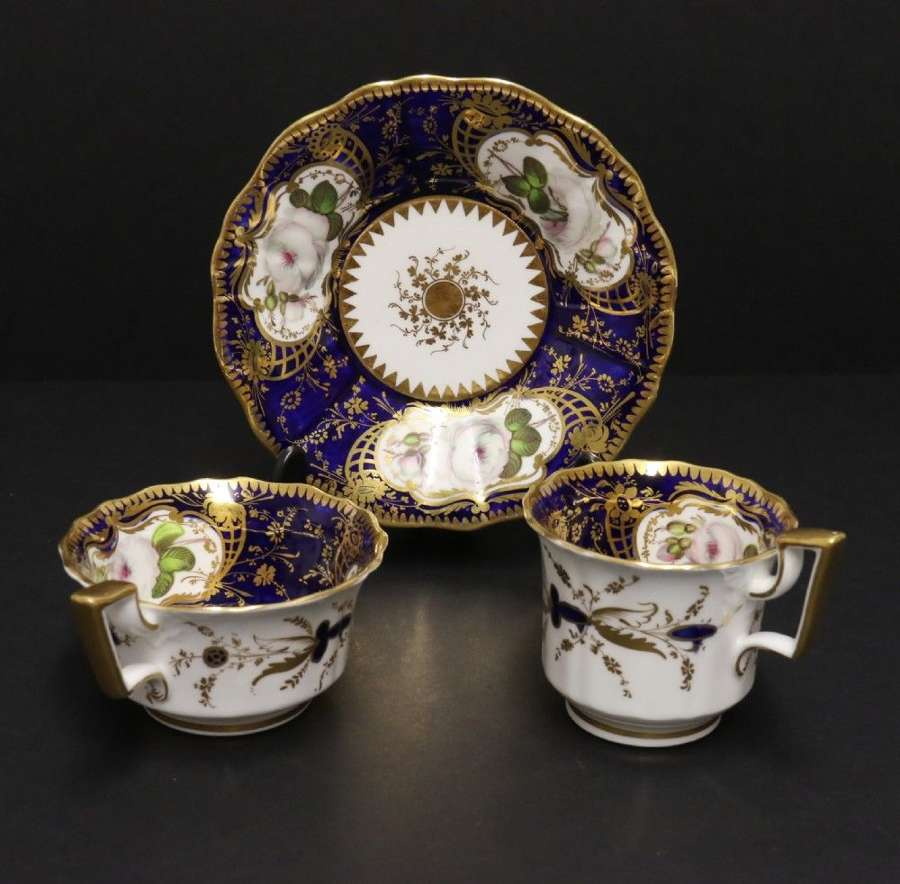 A Superb Early 19th C Coalport John Rose Period Cabinet Trio