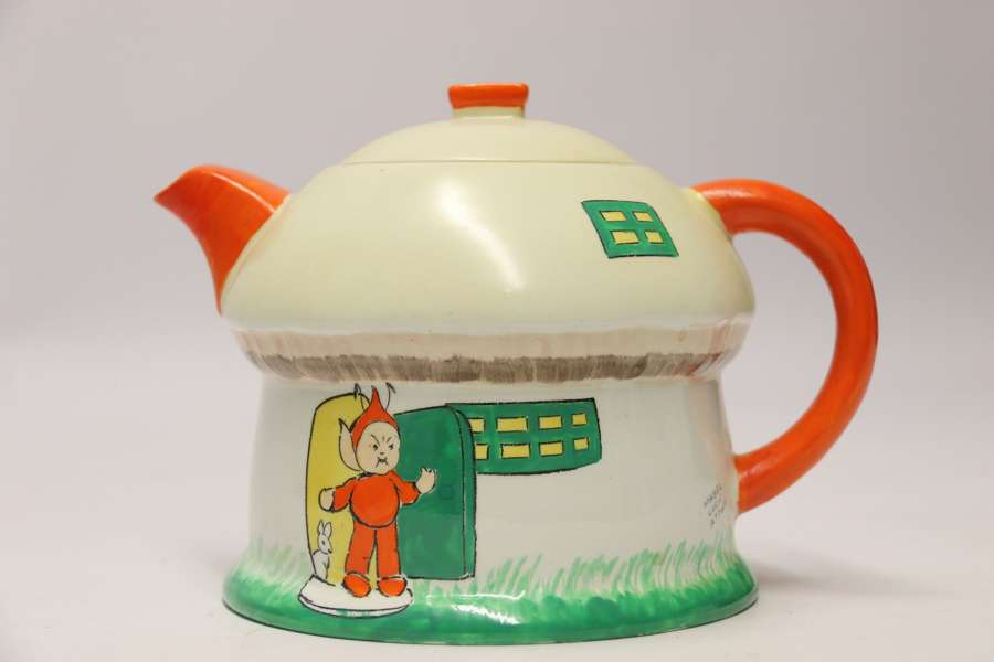 A Rare Shelly Porcelain Novelty  Tea Pot, Circa 1930  Designed By Mable Lucy Attwell