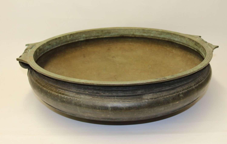 A Rare 18th Century Indian Bronze Urli Temple Bowl