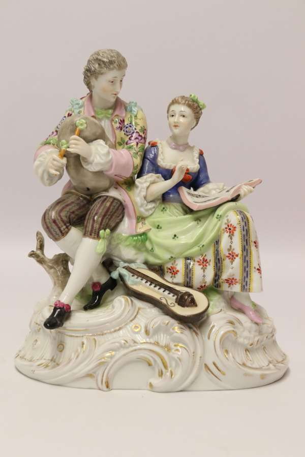 A Superb Rudolstadt 19th Century German Porcelain Figure Group