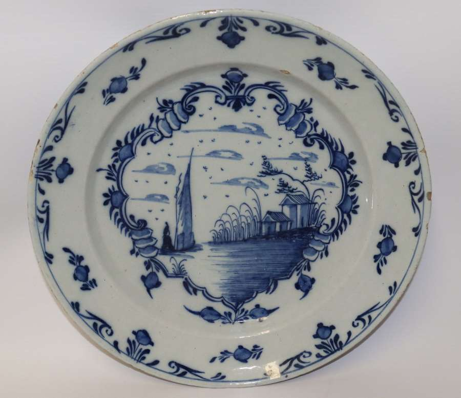 Mid 18th Century English Delft Charger