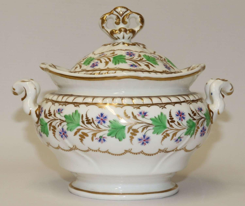 An Early 19th Century Spode Felspar Porcelain Sucrier