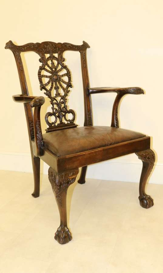 A Fine 19th Century Chippendale Style Armchair