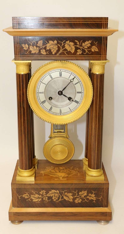 A Superb 19th Century  French Portico Clock
