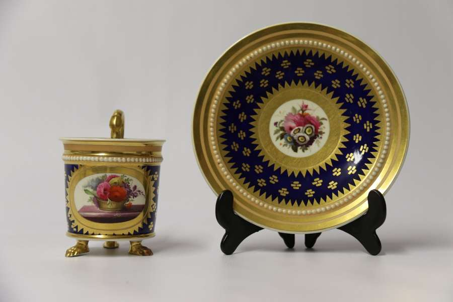 A Superb Early 19th C English Porcelain  Cabinet Cup And Saucer