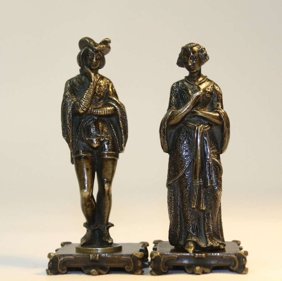 A Pair Of French Bronze Wax Seals, C 1850