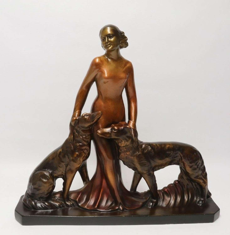 A Large Art Deco English Figure Group