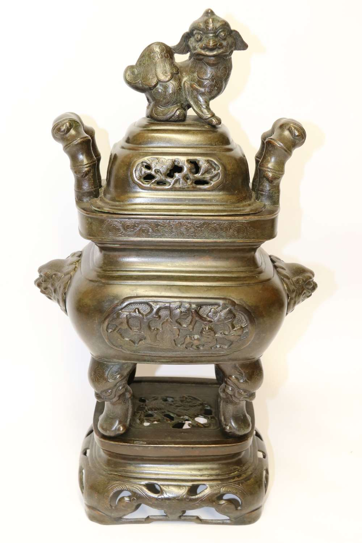 Impressive Chinese Bronze Censer 19th Century