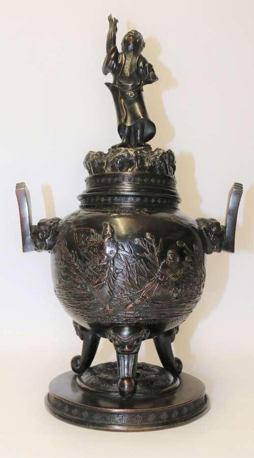 A Japanese Meiji Period Bronze Censer
