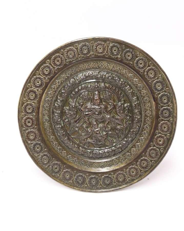 A 19th C Indian Raj Period Plaque