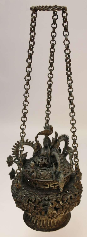 A Tibetan Bronze Incense Burner