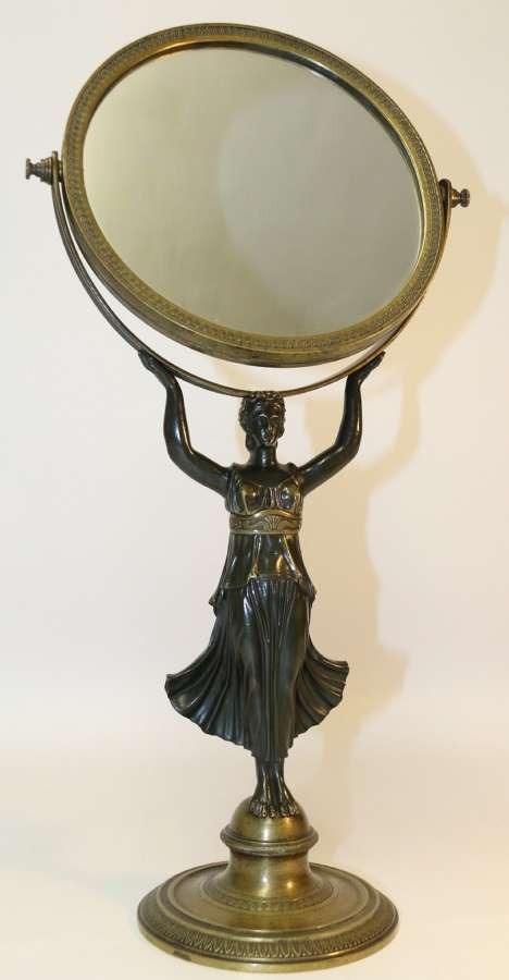 A Superb French Bronze Empire Period Mirror, Circa 1820