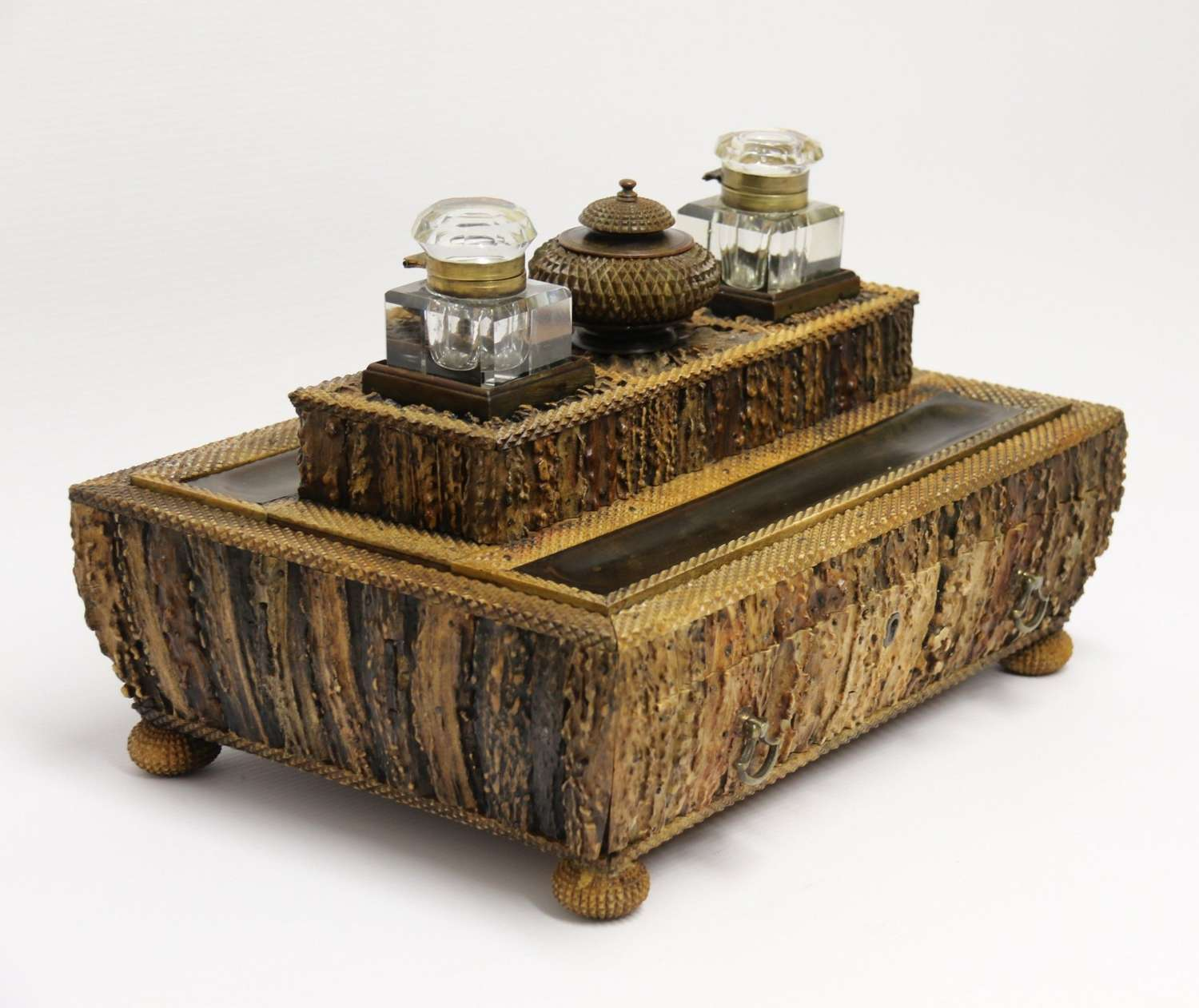 A Superb Early 19th Century Anglo Indian Desk Inkstand