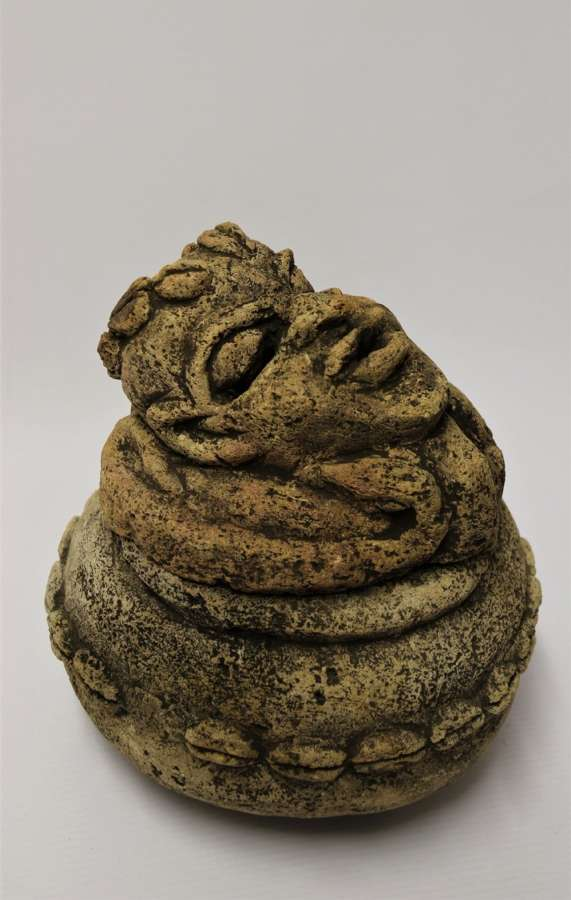 An Ancient Carved Limestone Nomoli Figurative Pot From The Mende People Of Sierra Leone