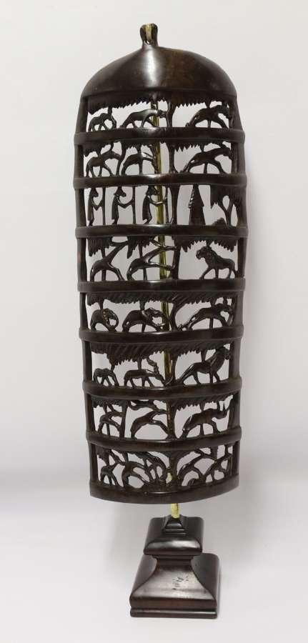 An Interesting Carved African Hardwood Hanging Panel