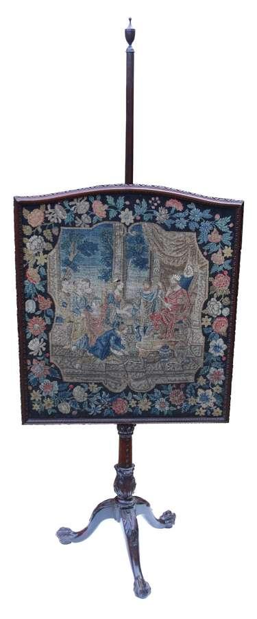 A Rare 18th Century Chippendale Period Pole Screen, Circa 1760