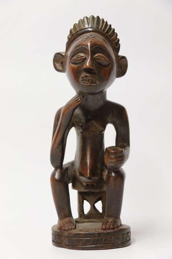 A Primitive  Angola Tribal Carved Hardwood Figure