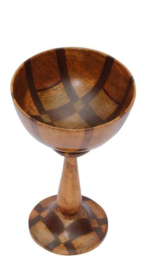 A Very Fine English Arts And Crafts Treen Specimen Wood Turned Goblet