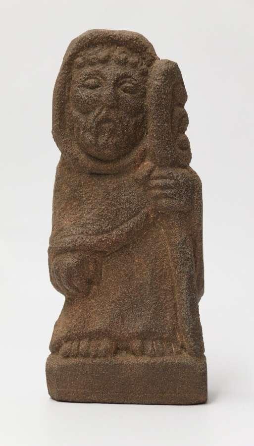 A Primitive Carved Sandstone Celtic Style Figure