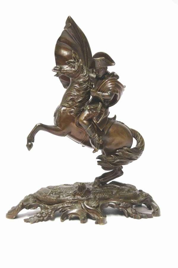 A Fine 19th Century Bronze Study Of Napoleon On Horseback