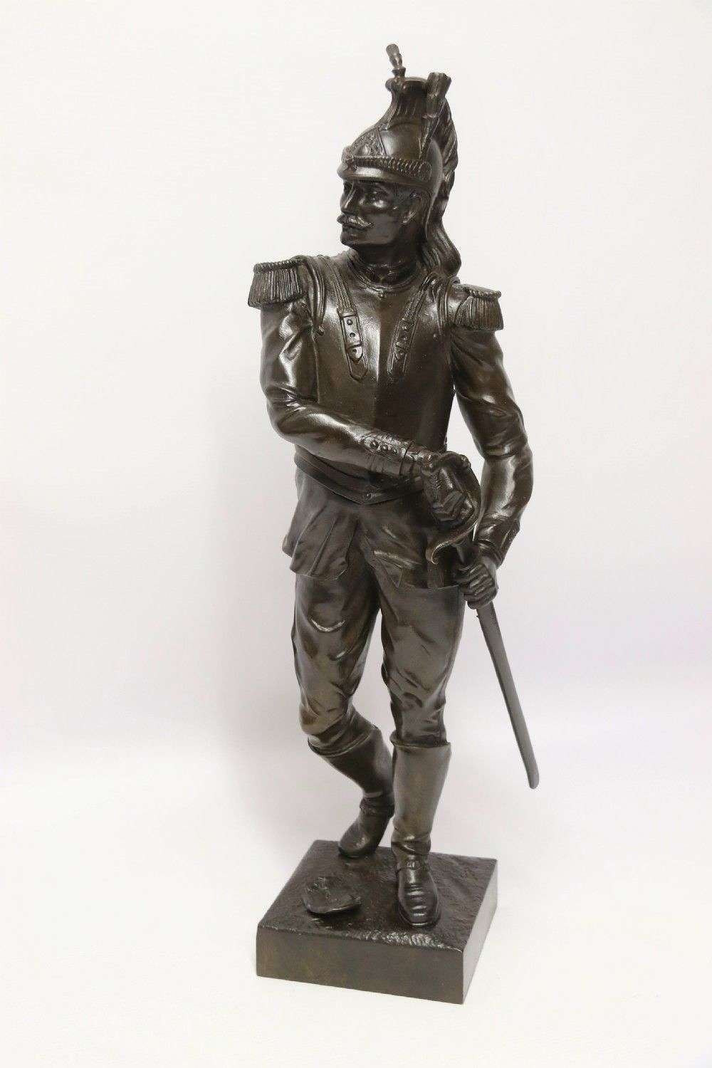 A Fine Bronze Study Of A French Military Figure By L. A Bayeux