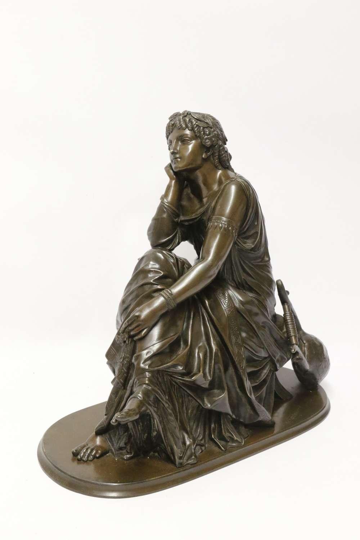 A Superb Mid-19th Century French Classical Bronze Of Euterpe By Pierre Alexander Schoenewerk