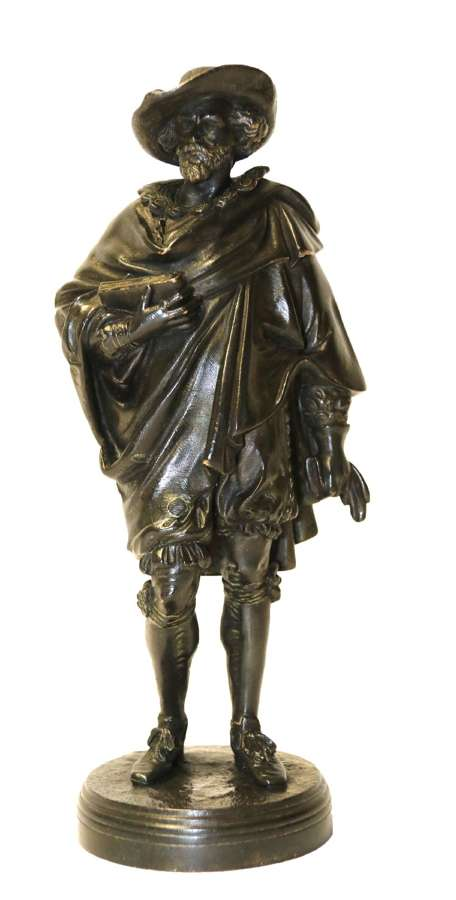 A Bronze Study Of Van Dyck, Signed Salmson