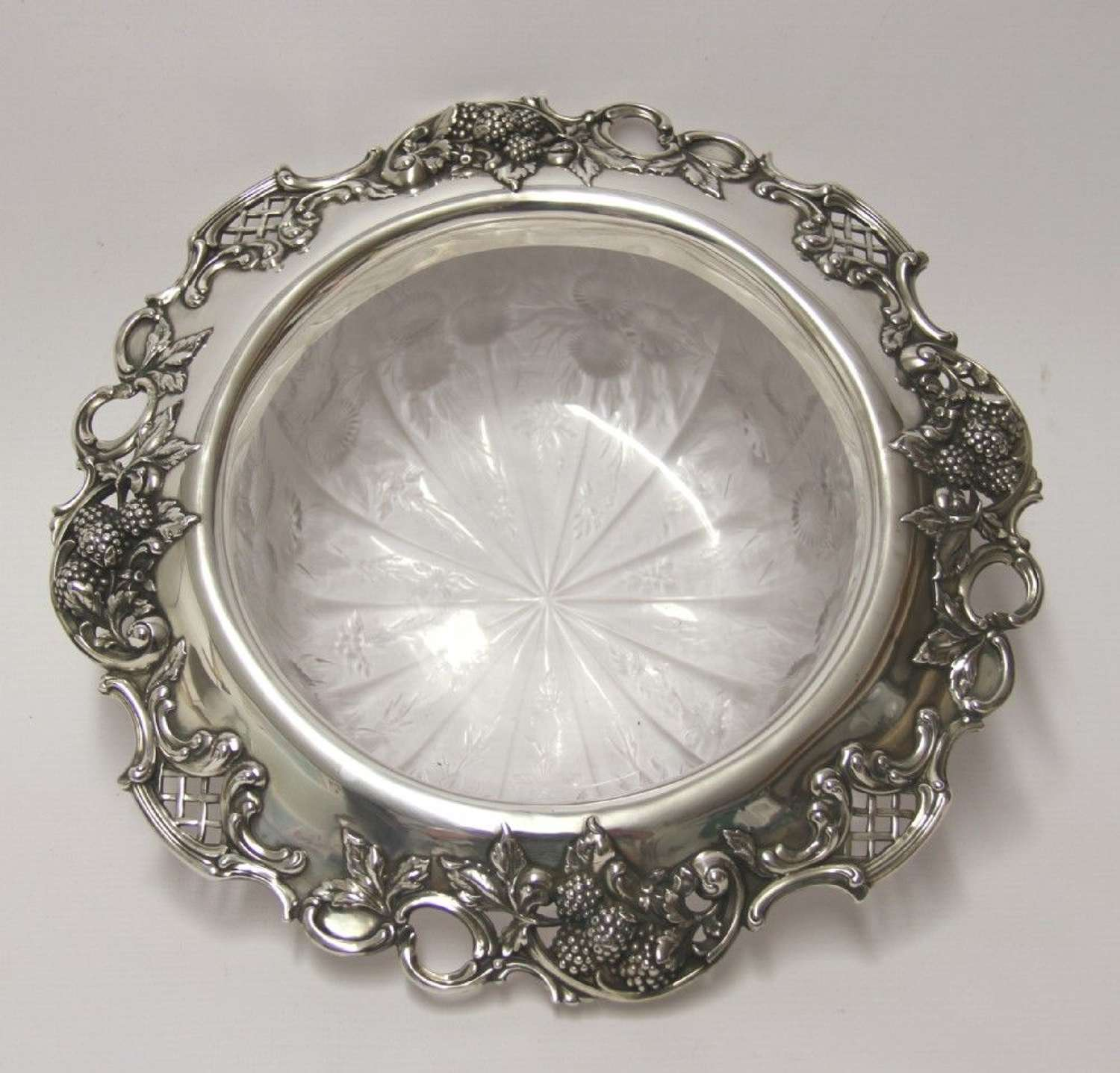 A Tiffany & Co Silver And Glass Bowl ,1910