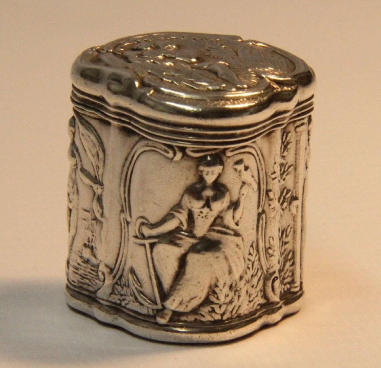 A 19 Century Small Continental Silver Box