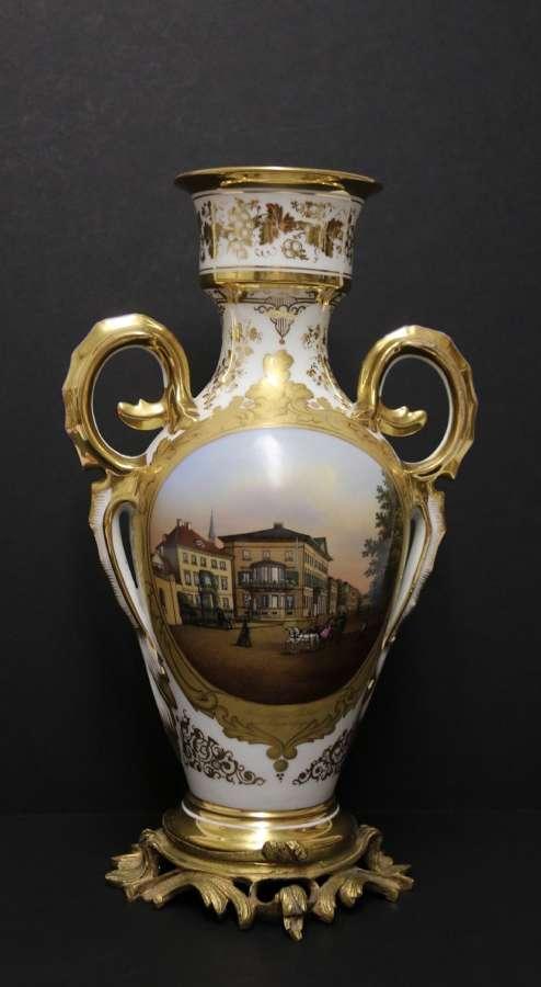 A Magnificent 19th Century Porcelain Vase By Thun Of Austria, C1850