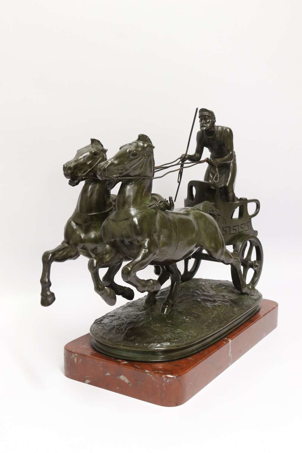 Superb Barbedienne  Bronze Study Of A Grecian Charioteer By Emmanuel Fremiet