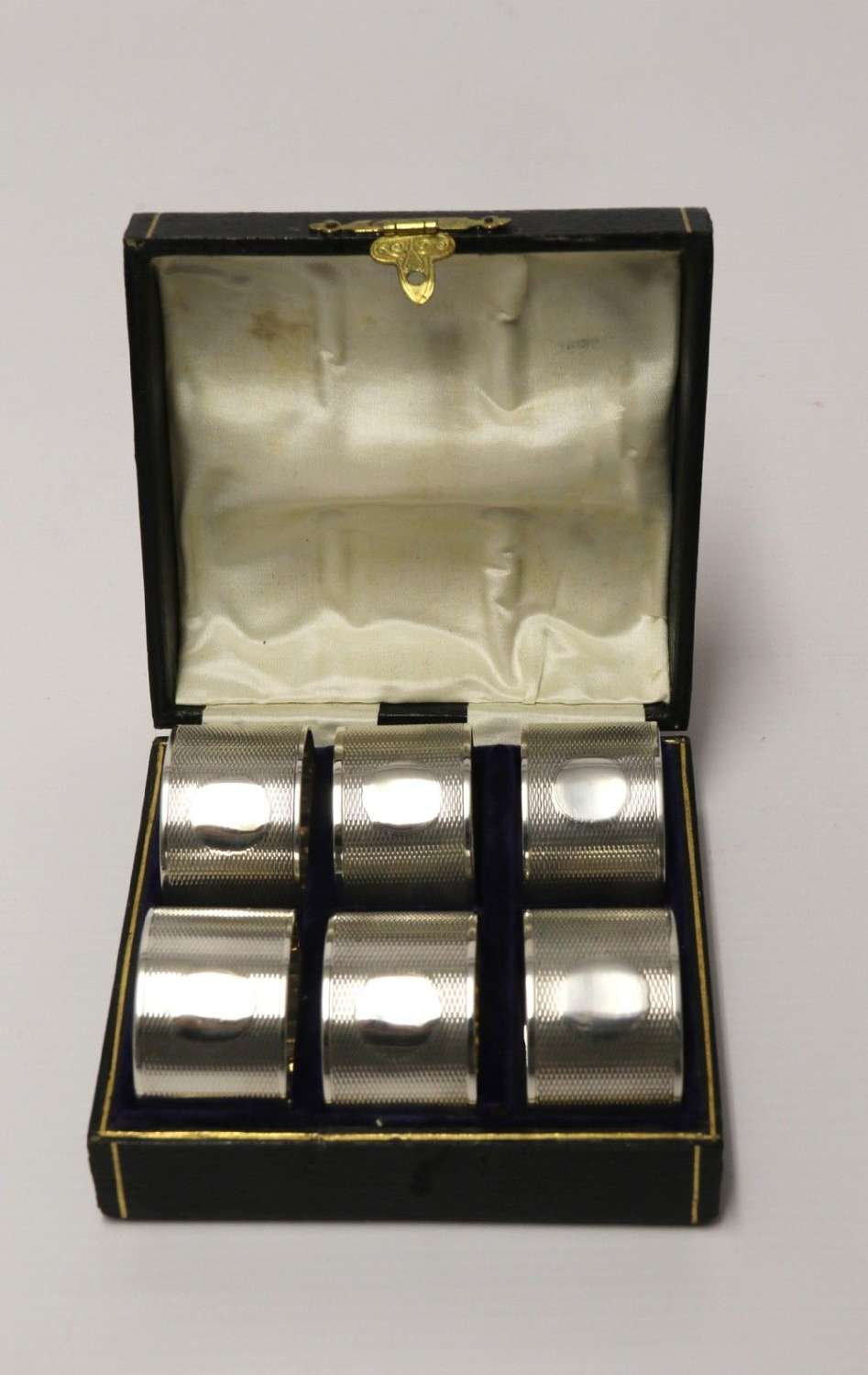 A Boxed Set Of Six Silver Napkin Rings, 1919 - 1920