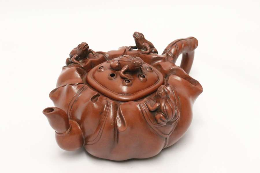A Rare Chinese 19th C Yixing Pottery Teapot