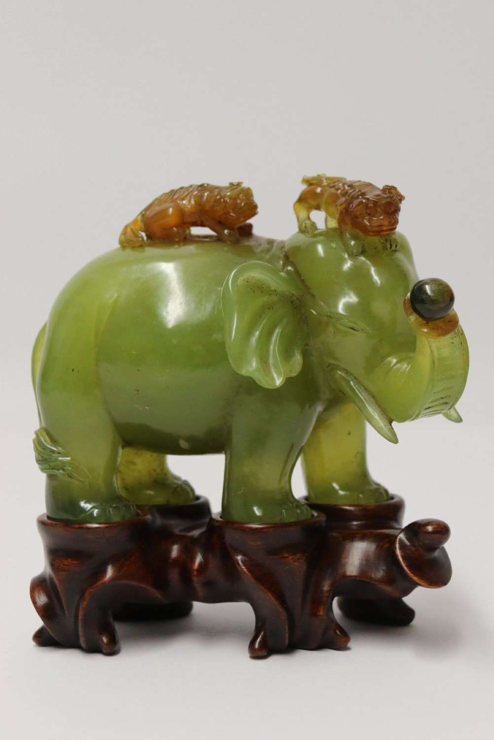 A Fine Chinese Carved Hardstone Study Of A Elephant  a Fine Chinese Carved Hardstone Study Of A Elephant  a Fine Chinese Carved Hardstone Study Of A Elephant