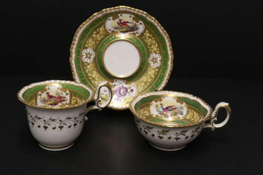 A Superb Early 19th C English H. R Daniel Porcelain Cabinet Trio