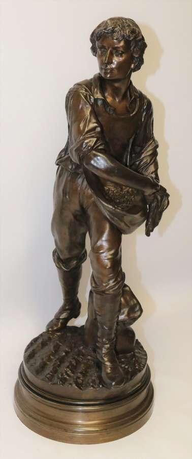 A Large 19th C Bronze Sculpture By Henri Ple