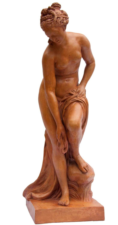 A Large French Grand Tour Terracotta Figure Of Venus, Circa 1880