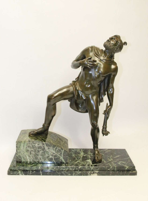 A Large Italian Grand Tour Bronze Sculpture Of The Greek God Prometheus.