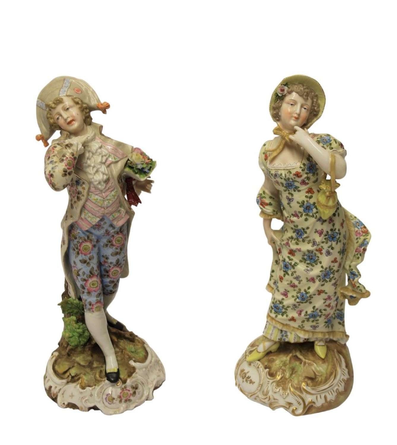 A Superb Pair Of Late 19th Century Rudolstadt Volkstedt Figures