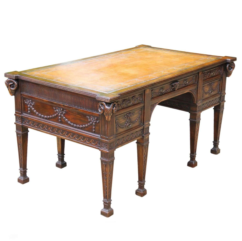 A Fine Freestanding  Robert Adam Style Desk