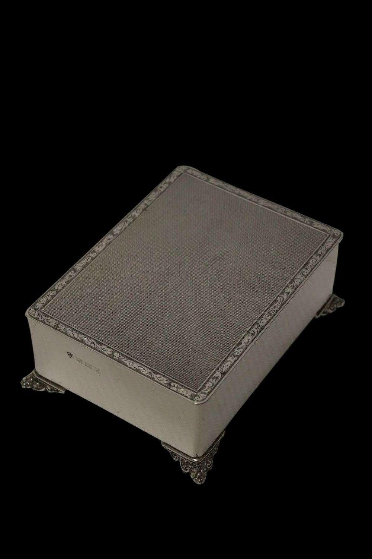 A Heavy English Solid Silver Box