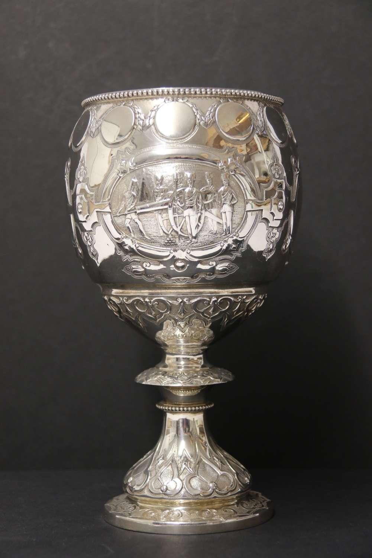 A Rare Silver Mid-19th Century Cornish Military Trophy